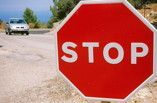 Stock Photo: 1566-089391 Stop sign