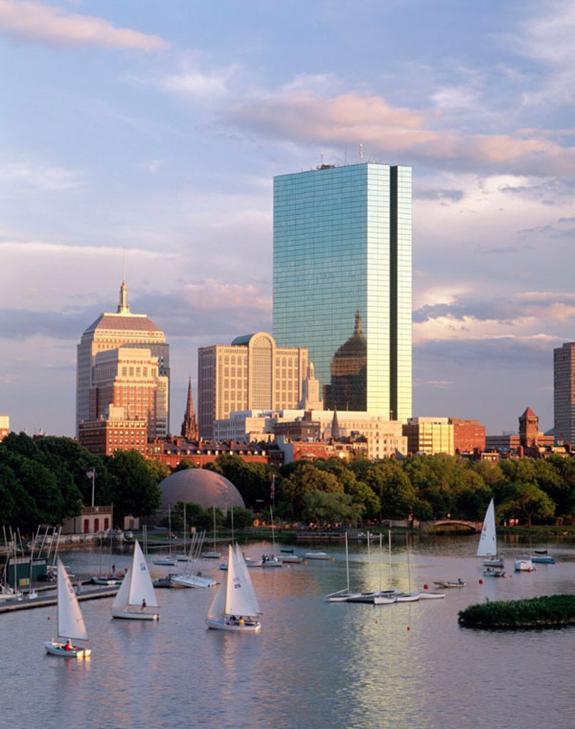 Stock Photo: 1566-090085 Back Bay. Boston. Massachusetts. USA