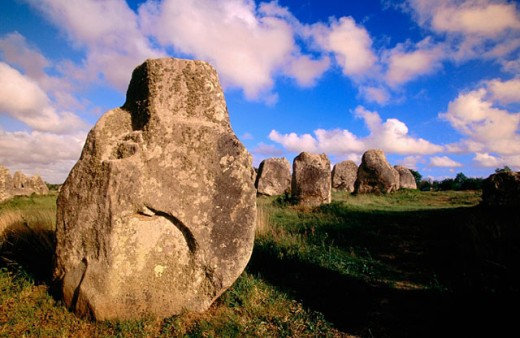 Megalithic stones. Carnac. Bretagne. France : Stock Photo