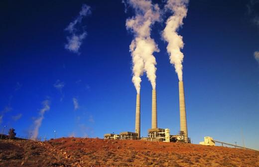 Stock Photo: 1566-090411 Navajo Nation Power Plant. Arizona. USA