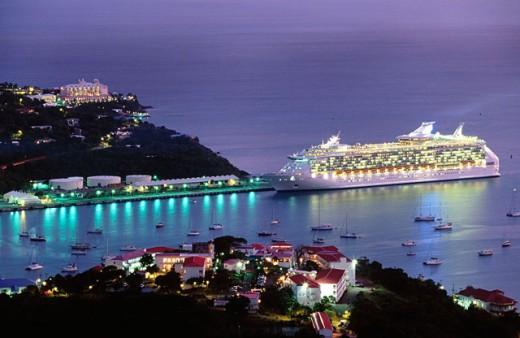 Stock Photo: 1566-090489 Charlotte Amalie from Waldemar Hill. Saint Thomas Island. U.S. Virgin Islands