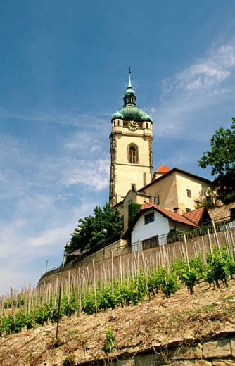 Stock Photo: 1566-090929 Renaissance castle (b. 1739). Melnik. Central Bohemia. Czech Republic