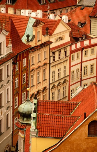 Stock Photo: 1566-090989 Buildings in Prague´s Old Town. Czech Republic