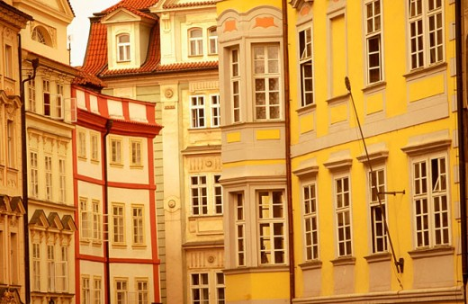 Buildings in Prague´s Old Town. Czech Republic : Stock Photo