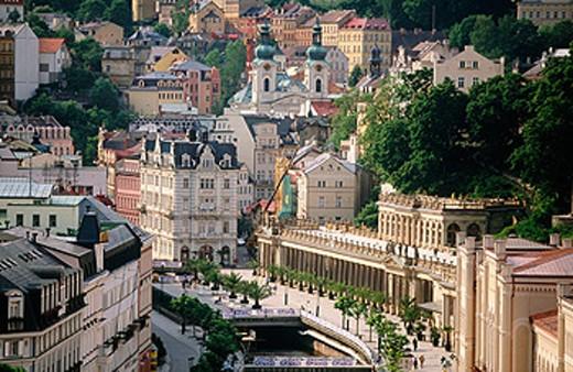Stock Photo: 1566-091016 Mlynska Kolonada Spa in Karlovy Vary. Czech Republic