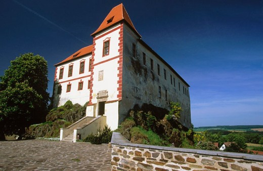 Home of Motorcycle Museum. Kamen Castle. Kamen. South Bohemia. Czech Republic : Stock Photo