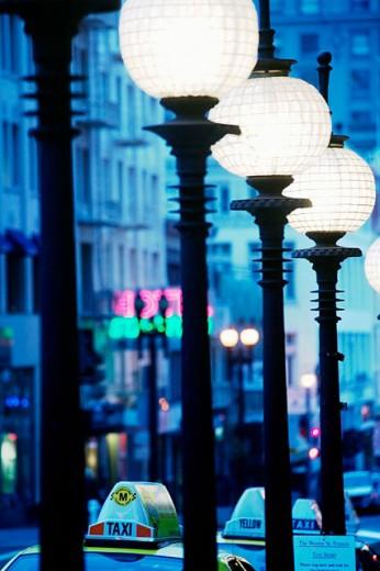 Street lamps in Powel Street. San Francisco, California, USA : Stock Photo