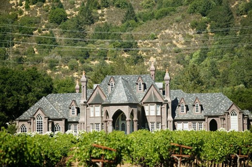 Stock Photo: 1566-091231 Ledson Winery in Kenwood. Sonoma Valley. California, USA