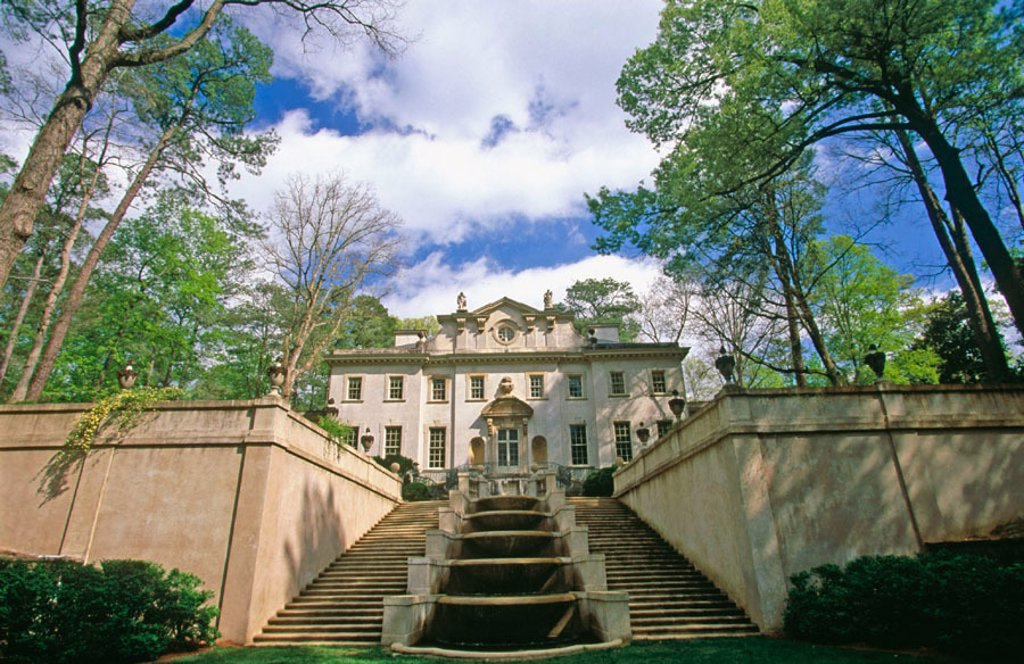 Stock Photo: 1566-091818 Swan House (built 1928), Atlanta History Center. Buckhead, Atlanta. Georgia, USA
