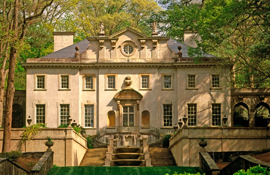Swan House (built 1928), Atlanta History Center. Buckhead, Atlanta. Georgia, USA : Stock Photo