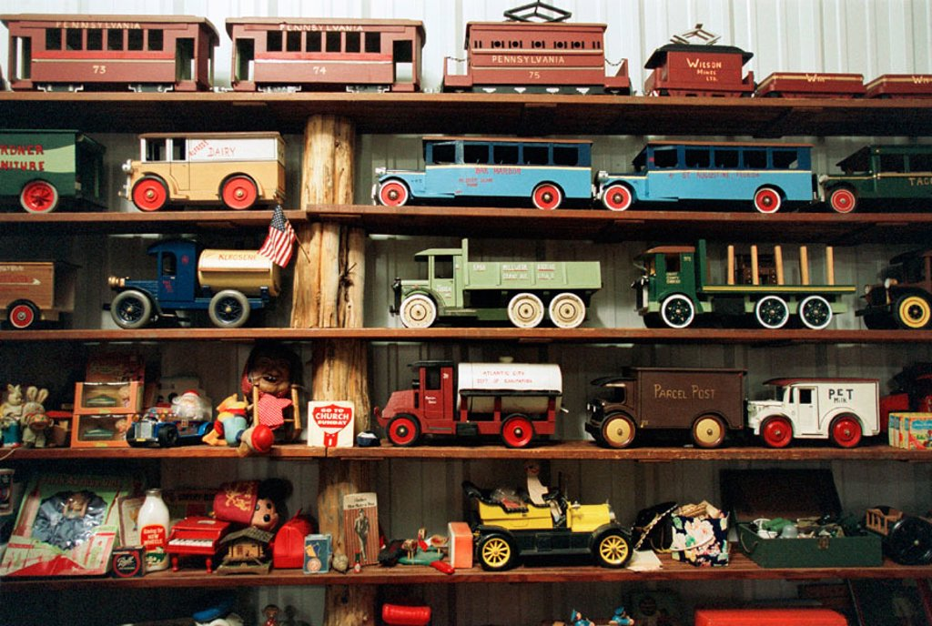 Stock Photo: 1566-091846 Model car display at North Carolina Auto Racing Hall of Fame. Mooresville. North Carolina, USA