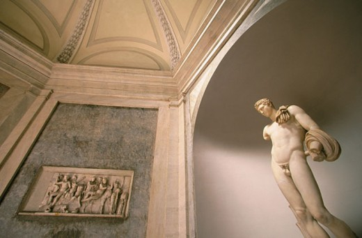 Stock Photo: 1566-091916 Reproduction of David by Michelangelo. Vatican Museum. Vatican City. Rome. Italy