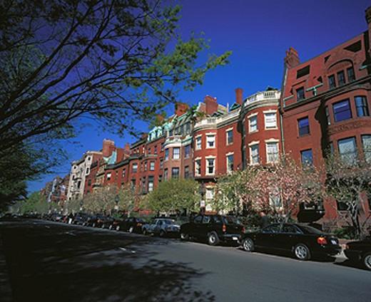 Stock Photo: 1566-091989 Commonwealth Avenue. Boston. Massachusetts. USA