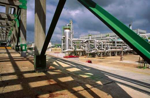 Stock Photo: 1566-095577 Refinery. Villahermosa. Mexico