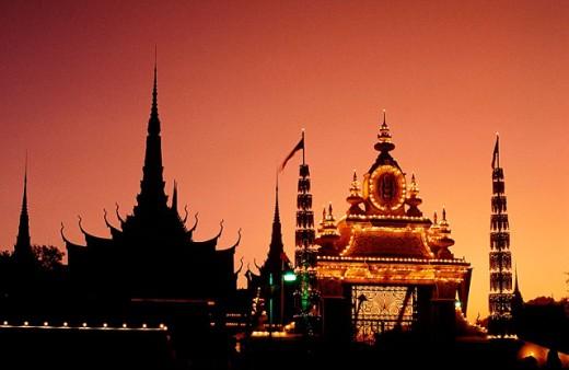 Royal Palace.City of Phnom Penh. Cambodia : Stock Photo