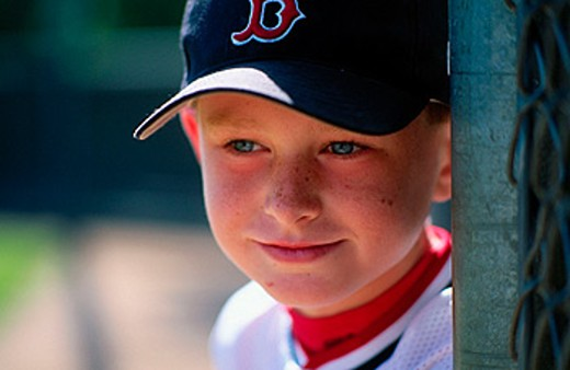 Stock Photo: 1566-096809 baseball boy