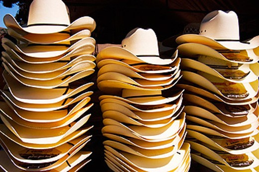 Stock Photo: 1566-097561 cowboy hats