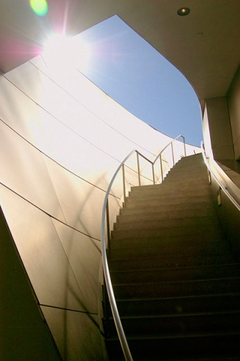 modern architecture staircase, Los Angeles, CA : Stock Photo