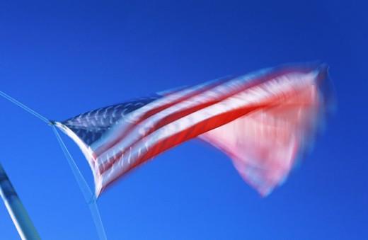 Stock Photo: 1566-098347 American Flag