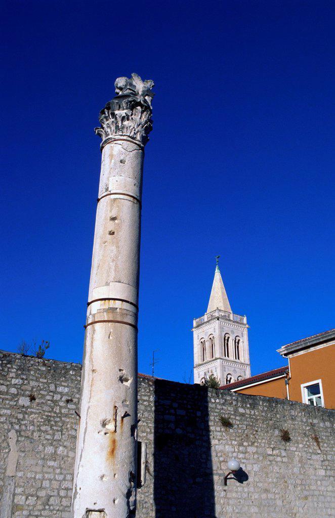 Stock Photo: 1566-1000746 Old architecture detail, Zadar, Croatia, Adriatic sea