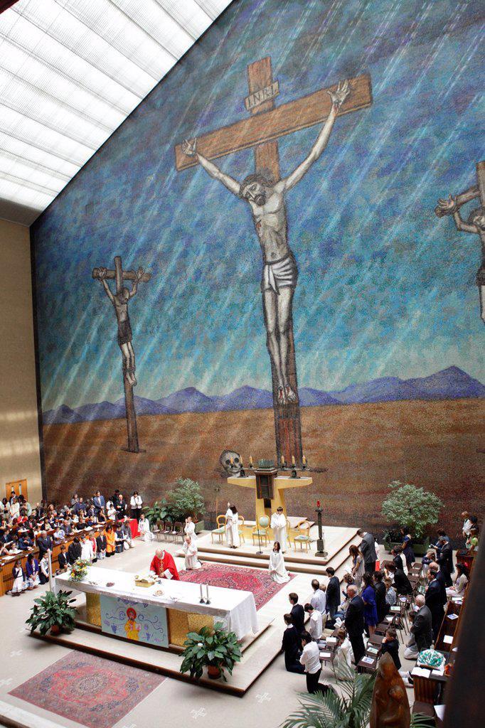 Catholic mass, Milan, Italy : Stock Photo