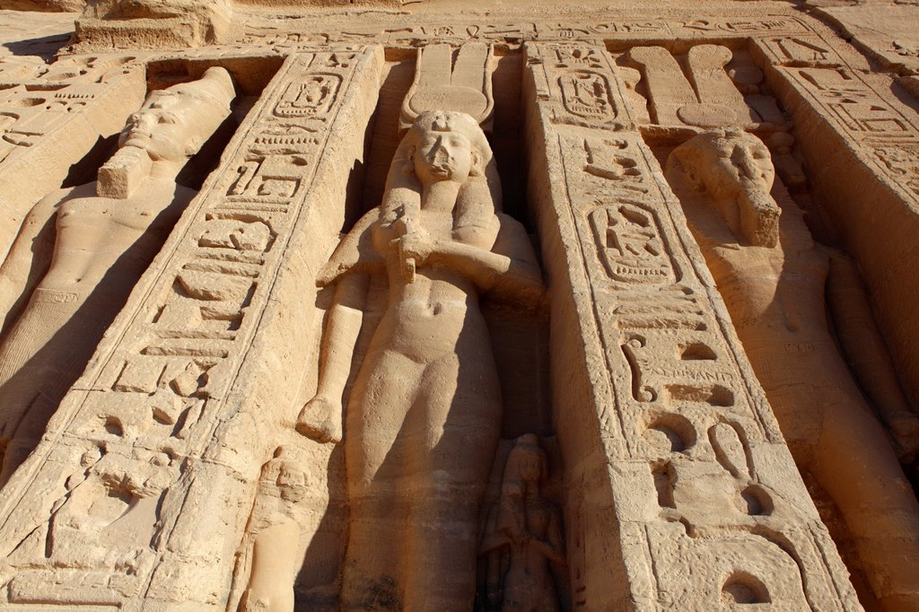 Nefertari´s Temple at Abu Simbel, Aswan, Egypt : Stock Photo