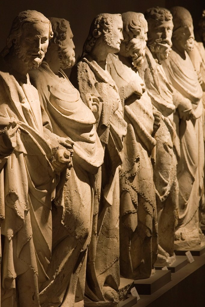 Stock Photo: 1566-1001692 europe, italy, tuscany, siena, museum opera metropolitana, statues of the school of giovanni pisano representing the apostles