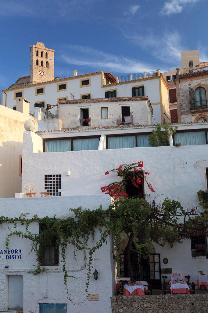 Stock Photo: 1566-1001787 Spain, Balearic Islands, Ibiza, Old town Dalt Vila
