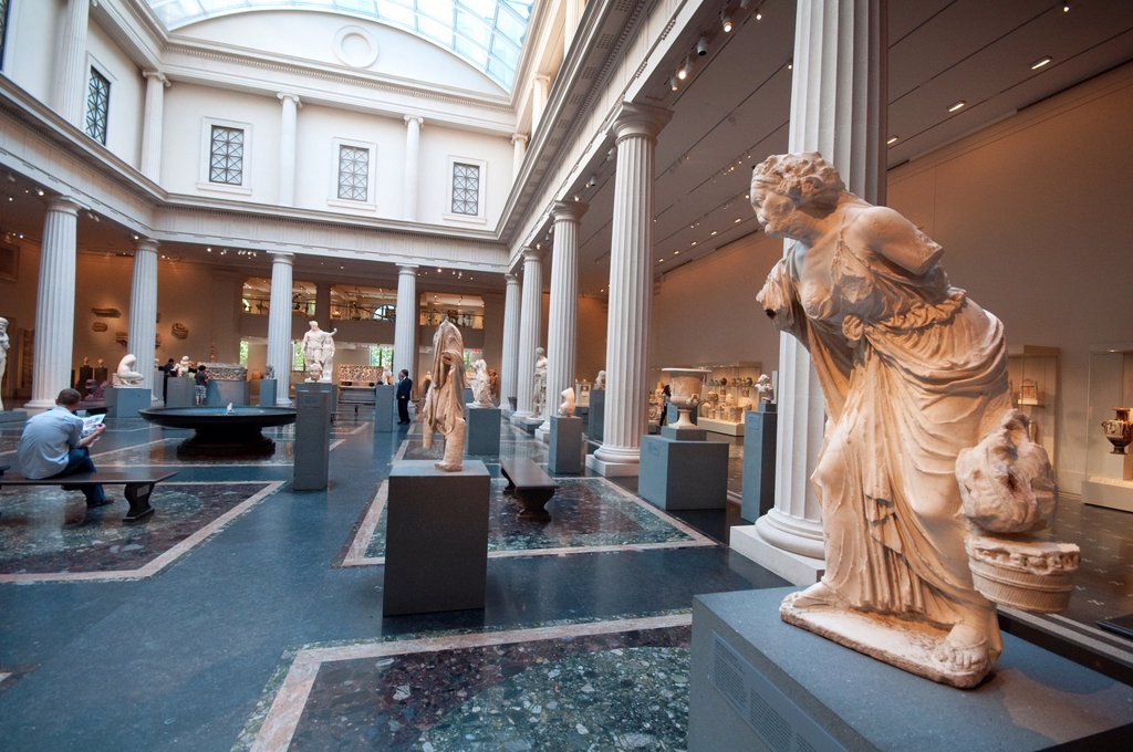 Stock Photo: 1566-1002410 United States, New York City, Manhattan, East Side, Metropolitan Museum of Art, Greek and Roman Galleries