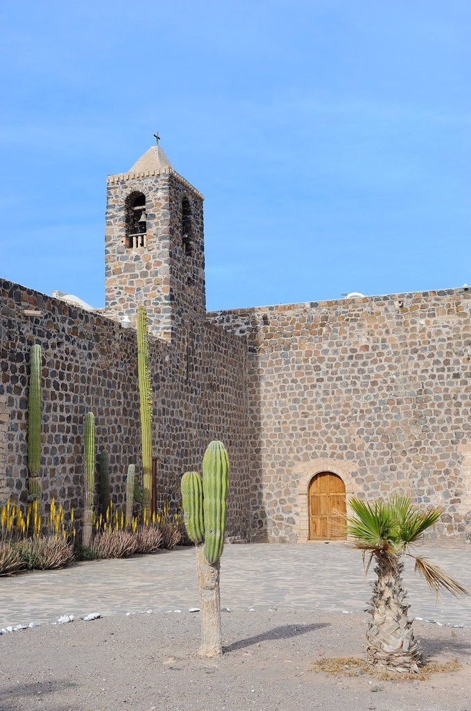 Stock Photo: 1566-1002627 Mexico, Baja California, Mulege, Mission Santa Rosalia 1705-1766