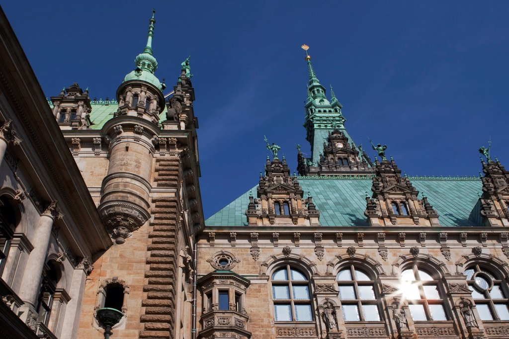 Town Hall Hamburg, Germany : Stock Photo