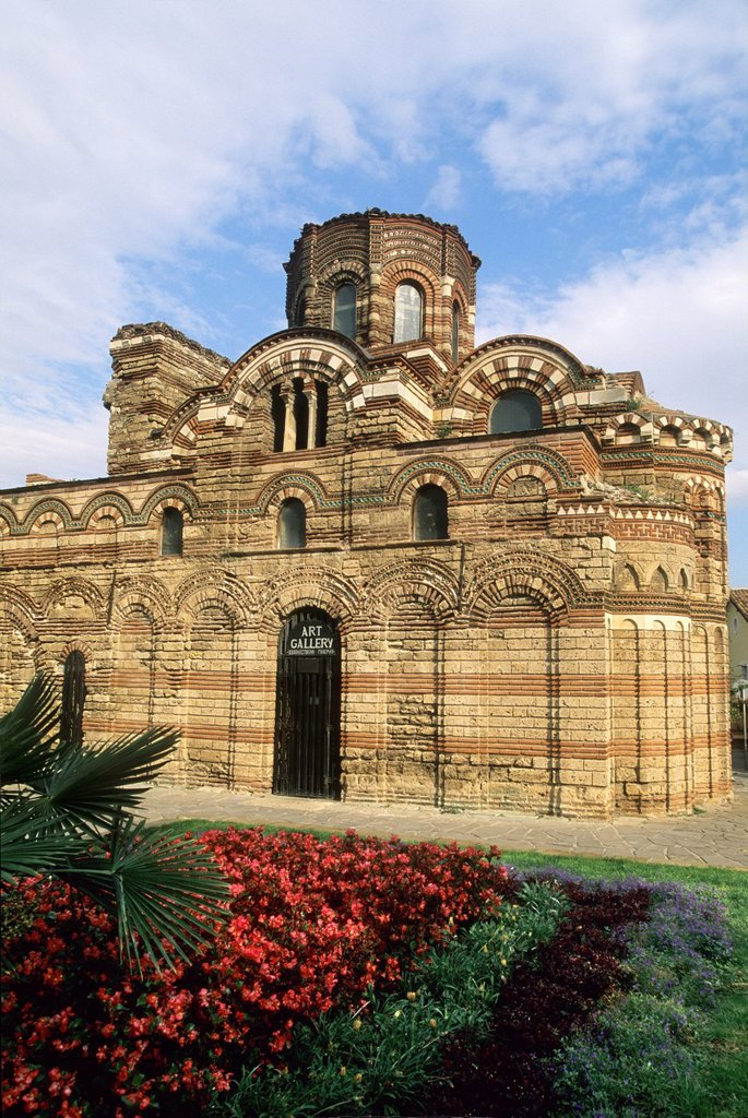 South view of the Church of Christ Pantocrator, Nesebar, Black Sea coast, Bulgaria, Europe : Stock Photo