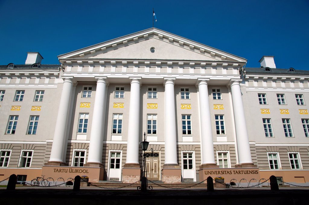 Stock Photo: 1566-1003306 Ülikool the University main building Tartu Estonia the Baltic States Europe