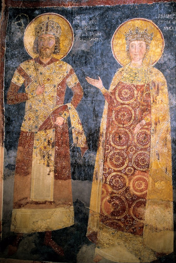 Stock Photo: 1566-1003332 Boyana Church, the frescoes painted in 13th century, make it one of the most important collections of medieval paintings, Sofia, Bulgaria, Europe