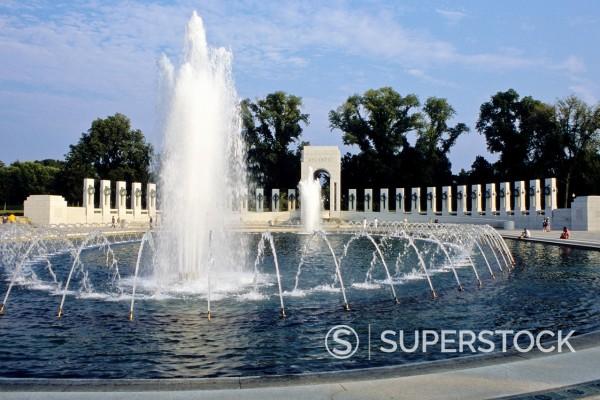 Stock Photo: 1566-1003482 World War II Memorial, Washington, D C