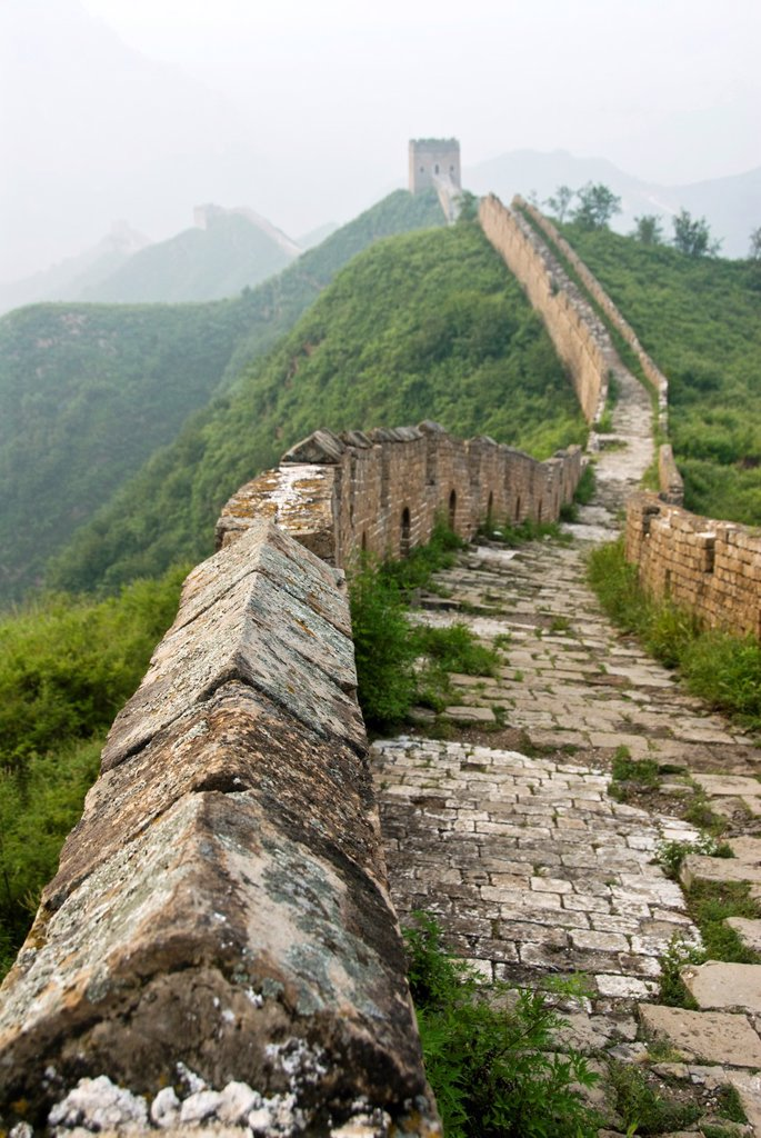 Stock Photo: 1566-1005305 Great wall of China from Jinshanling to Simatai, Hebei Province, China.