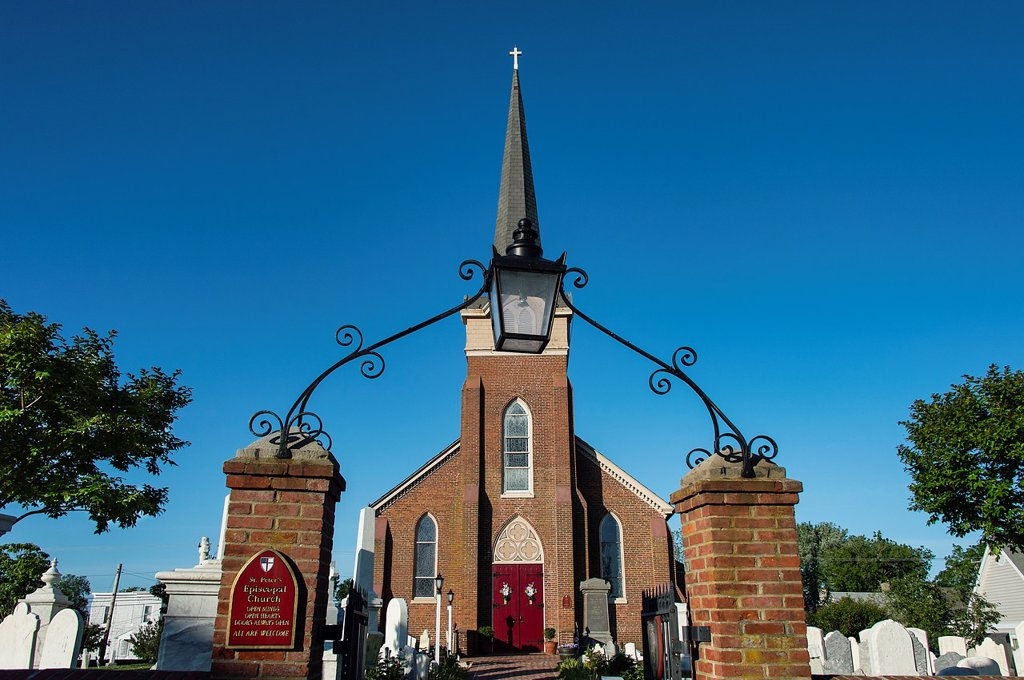 Stock Photo: 1566-1005415 Historic St Peter´s Episcopal Church, Lewes, Delaware, USA