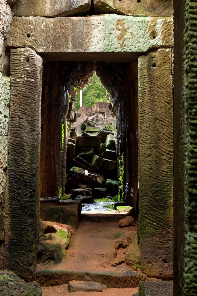 Stock Photo: 1566-1005541 Preah KhanPrah Khan, Sacred Sword, is a temple at Angkor, Cambodia, built in the 12th century for King Jayavarman VII, It is located northeast of Angkor Thom, Angkor, UNESCO World Heritage Site, Cambodia, Indochina, Southeast Asia, Asia
