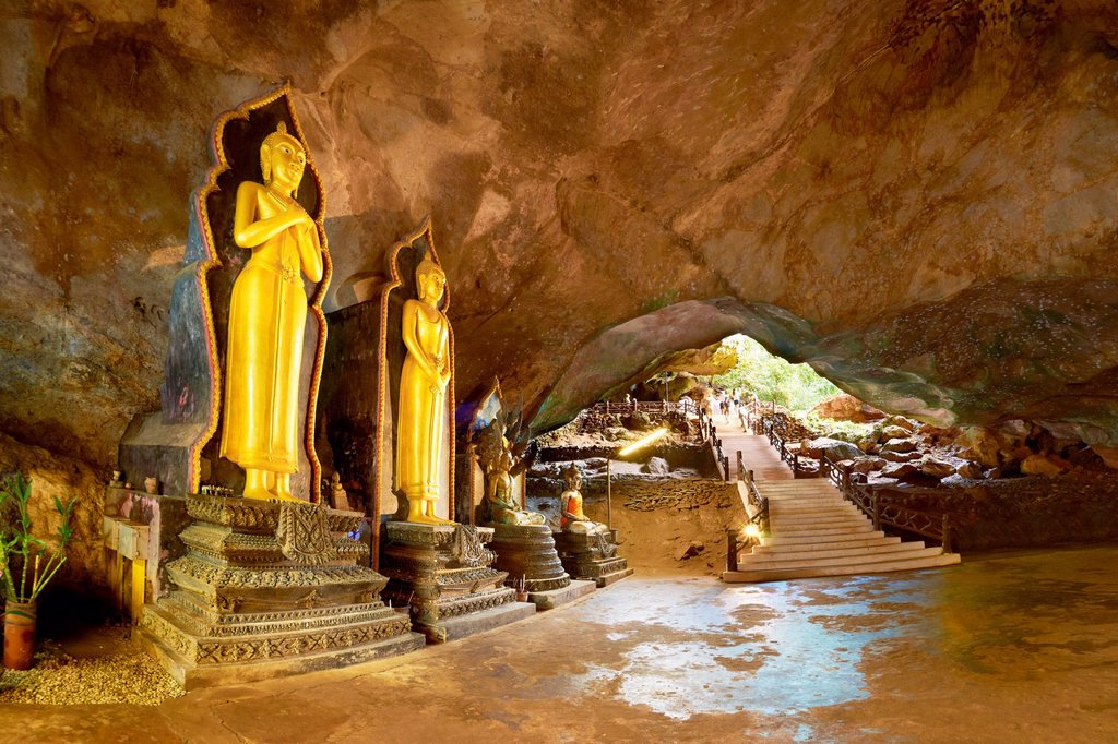 Stock Photo: 1566-1005780 Thailand - Phang Nga Province, Wat Suwan Kuha Cave Temple