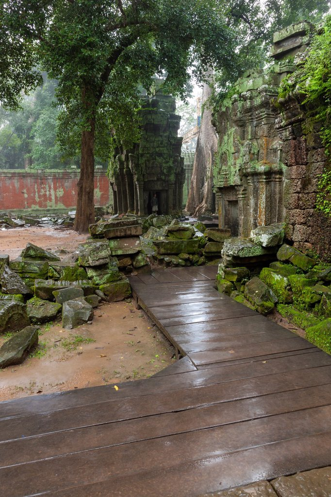 Stock Photo: 1566-1006171 Ta Prohm is the modern name of a temple at Angkor, Siem Reap Province, Cambodia, built in the Bayon style largely in the late 12th and early 13th centuries and originally called Rajavihara Located approximately one kilometre east of Angkor Thom and on the. Ta Prohm is the modern name of a temple at Angkor, Siem Reap Province, Cambodia, built in the Bayon style largely in the late 12th and early 13th centuries and originally called Rajavihara Located approximately one kilometre east of Angkor Tho