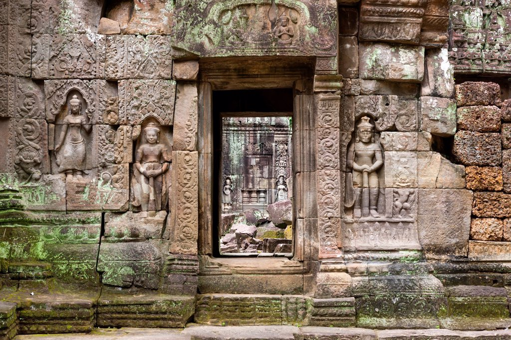Stock Photo: 1566-1006186 Ta Som Temple, Angkor, UNESCO World Heritage Site, Siem Reap, Cambodia, Asia