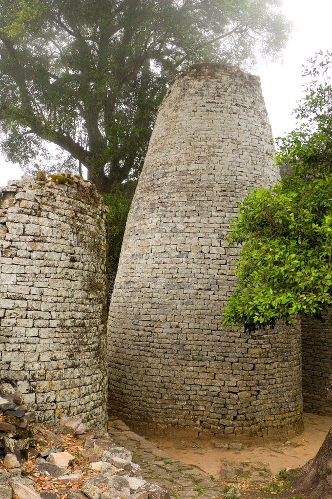 Stock Photo: 1566-1007104 The Conical Tower at the ruined city of Great Zimbabwe