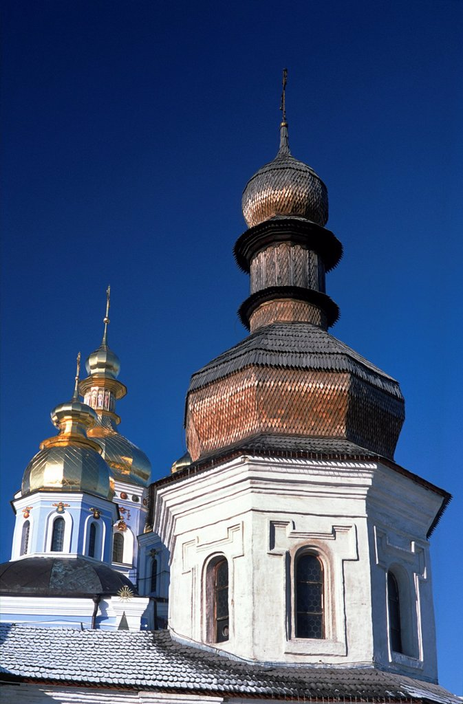 Stock Photo: 1566-1007167 St  Michael golden domed monastery, Kiev, Ukraine