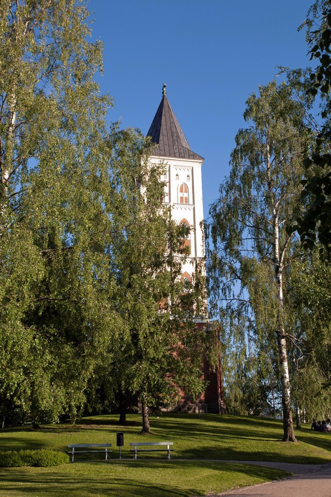 Church bell tower, Lappeenranta Finland : Stock Photo