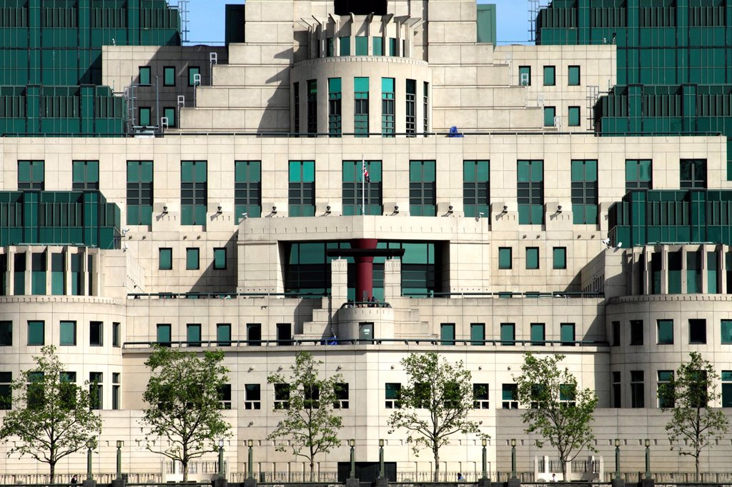 Stock Photo: 1566-1007317 MI6 Building Vauxhall London