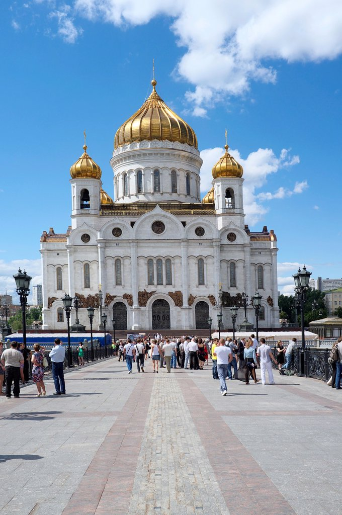 Stock Photo: 1566-1007476 Cathedral of Christ the Saviour in Moscow