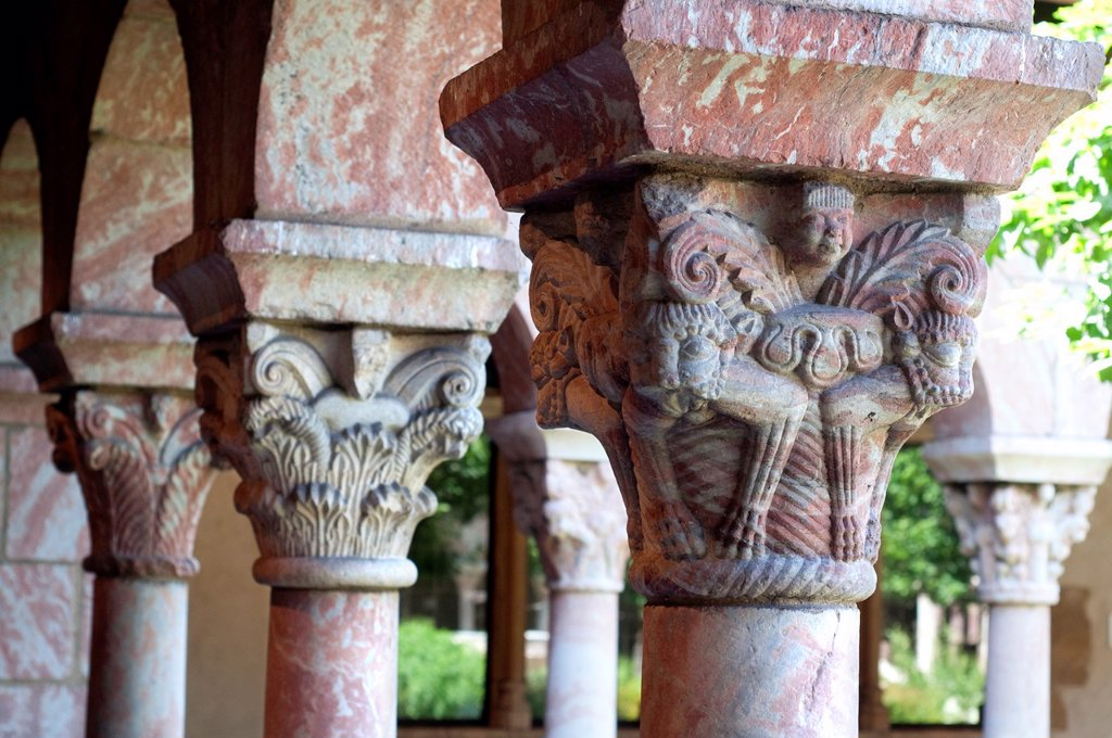Stock Photo: 1566-1007650 United States, New York City, Manhattan, Uptown, Cloisters Museum