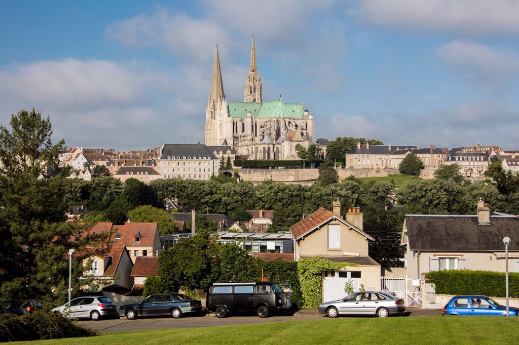 Stock Photo: 1566-1007793 France , Chartres City , Chartres cathedral W H