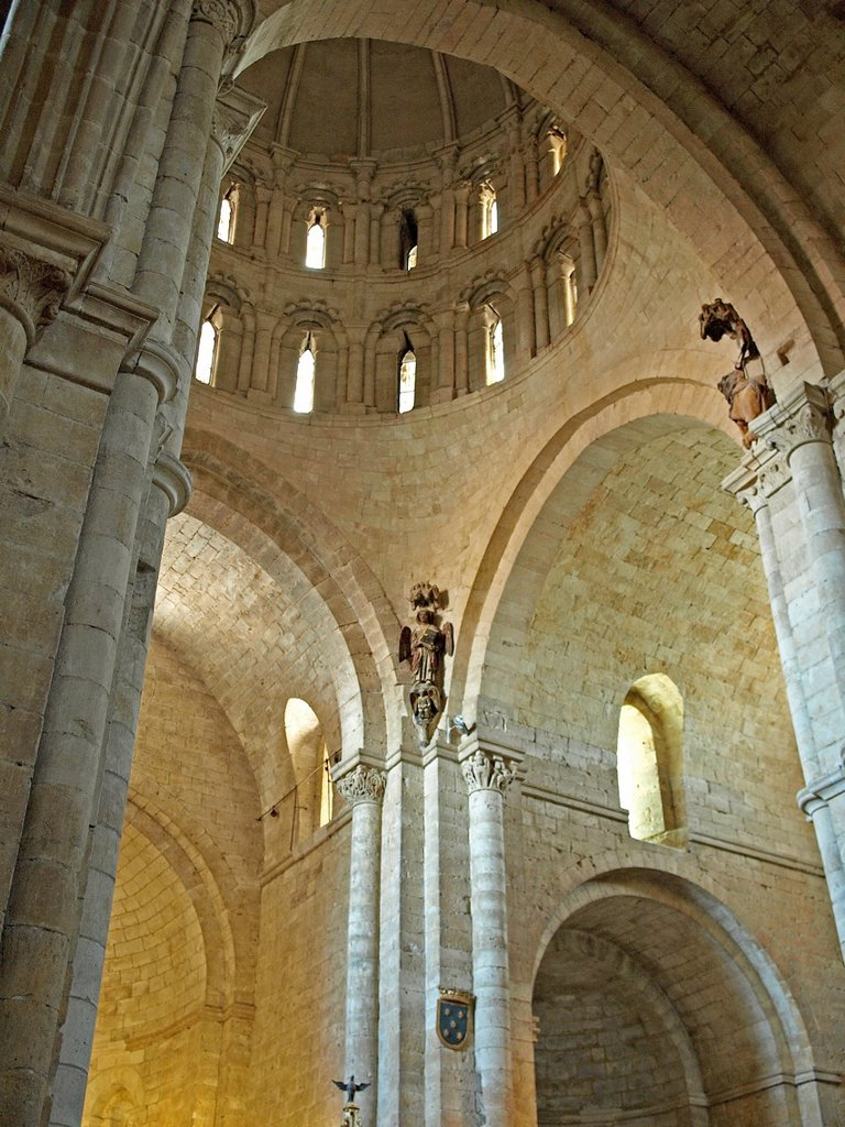 Stock Photo: 1566-1008283 Indoor view of the Romanesque collegiate church of Santa María la Mayor, Toro, Zamora province, Castilla-Leon, Spain
