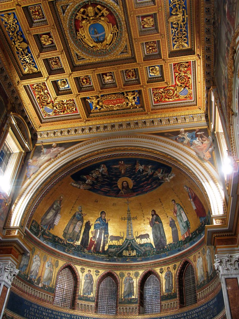 Stock Photo: 1566-1008457 decorations in san giovanni in laterano basilica, rome